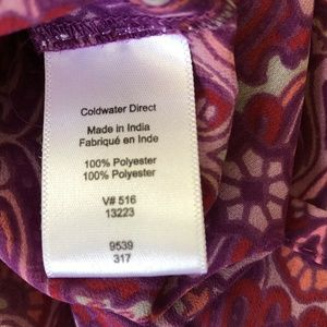 Coldwater Creek Tops - Coldwater Creek Womens Red & Purple Sheer Blouse L